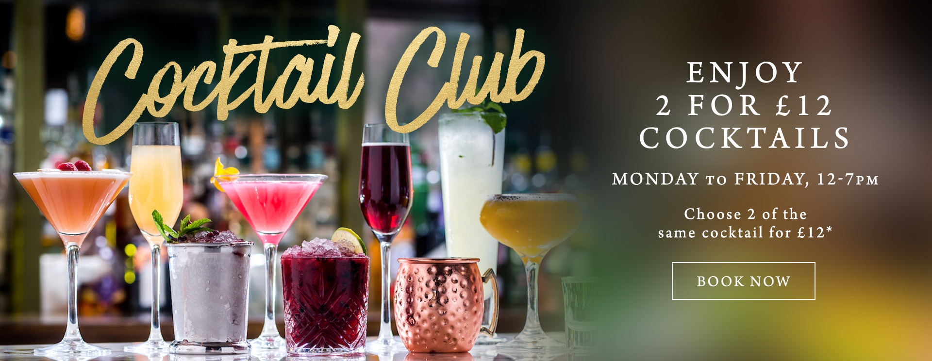 2 for £12 cocktails at The Wotton Hatch